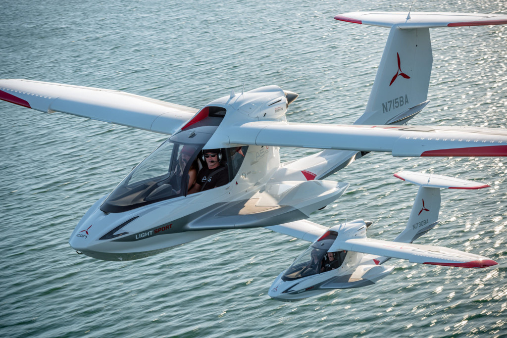 ICON A5 two planes over water
